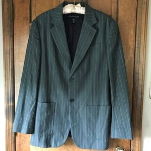 Kenneth Cole Gray w/White Pinstripe Blazer XL (44)